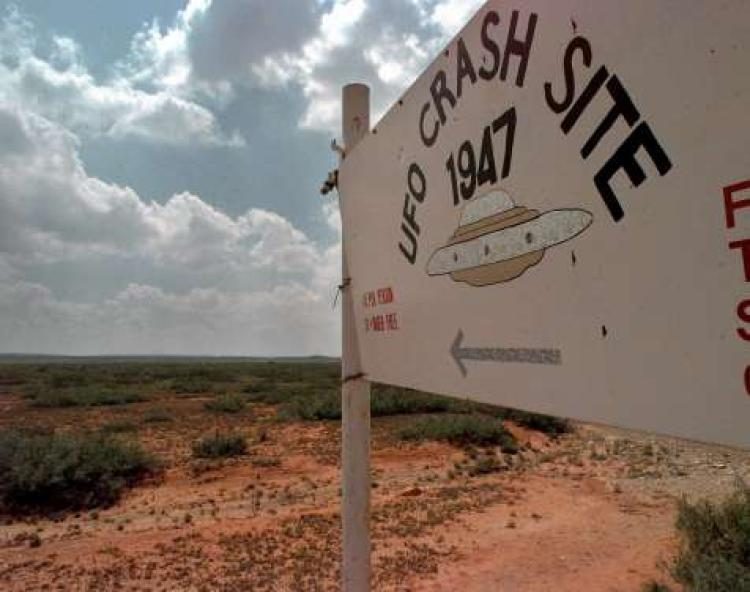 Alien spaceship crash at Roswell