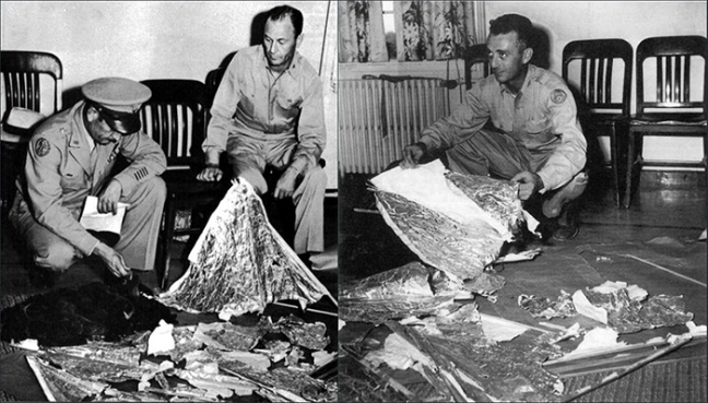 Fake Roswell Alien UFO crash debris