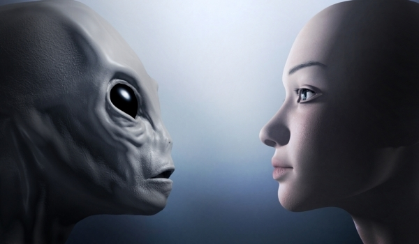 Alien telepathic communication